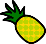 Realistic Looking Pineapple Clip Art PNG icon png