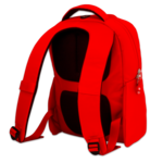 Red Backpack PNG icon png