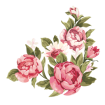 Romantic Pink Flower Border PNG Clipart icon png