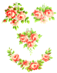 Romantic Pink Flower Border PNG Pic icon png