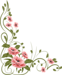Romantic Pink Flower Border Transparent Background icon png