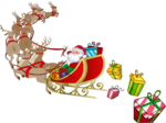 Santa Sleigh PNG Pic icon png