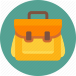 School Bag Transparent Background icon png