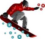 Snowboarding Jumping PNG Transparent icon png