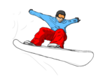 Snowboarding Jumping Transparent PNG icon png