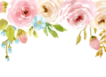 Watercolor Flowers PNG Background icon png