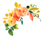 Watercolor Flowers PNG File Download Free icon png