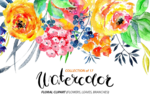 Watercolor Flowers PNG Transparent Image icon png