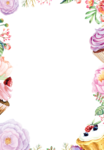 Watercolor Flowers PNG Transparent icon png
