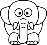 White Elephant PNG Transparent icon png